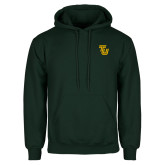 Dark Green Fleece Hood-University TU