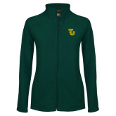 Ladies Fleece Full Zip Dark Green Jacket-University TU