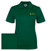 Ladies Dark Green Dry Mesh Polo-TU with Tiffin Universrity Horizontal