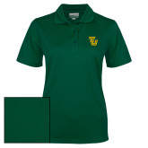 Ladies Dark Green Dry Mesh Polo-University TU