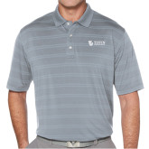 Callaway Horizontal Textured Steel Grey Polo-TU with Tiffin Universrity Horizontal