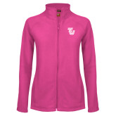 Ladies Fleece Full Zip Raspberry Jacket-University TU