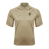 Vegas Gold Textured Saddle Shoulder Polo-Primary Logo