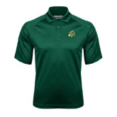 Dark Green Textured Saddle Shoulder Polo-Dragon