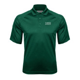 Dark Green Textured Saddle Shoulder Polo-Tiffin University