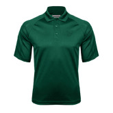 Dark Green Textured Saddle Shoulder Polo-Primary Logo