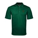 Dark Green Mini Stripe Polo-Primary Logo