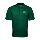 Dark Green Mini Stripe Polo-Tiffin University