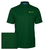 Dark Green Performance Fine Jacquard Polo-TU with Tiffin Universrity Horizontal