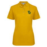 Ladies Easycare Gold Pique Polo-University TU