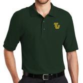 Dark Green Easycare Pique Polo-University TU