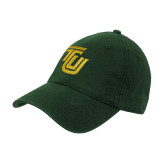 Dark Green Twill Unstructured Low Profile Hat-University TU