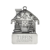 Pewter House Ornament-Tiffin University Engraved