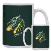 Full Color White Mug 15oz-Dragon with Text