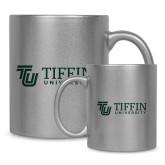 Full Color Silver Metallic Mug 11oz-TU with Tiffin Universrity Horizontal