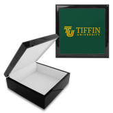 Ebony Black Accessory Box With 6 x 6 Tile-TU with Tiffin Universrity Horizontal