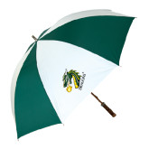 62 Inch Forest Green/White Umbrella-Dragon with Text