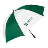 62 Inch Forest Green/White Umbrella-TU with Tiffin Universrity Horizontal