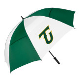 62 Inch Forest Green/White Umbrella-Athletic TU