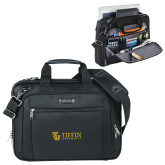 Kenneth Cole Black Vertical Checkpoint Friendly Messenger-TU with Tiffin Universrity Horizontal