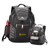 High Sierra Big Wig Black Compu Backpack-TU with Tiffin Universrity Horizontal