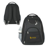 The Ultimate Black Computer Backpack-TU with Tiffin Universrity Horizontal