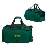 Challenger Team Dark Green Sport Bag-TU with Tiffin Universrity Horizontal