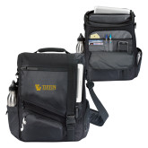 Momentum Black Computer Messenger Bag-TU with Tiffin Universrity Horizontal