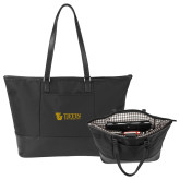 Stella Black Computer Tote-TU with Tiffin Universrity Horizontal