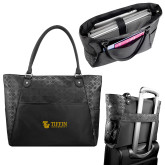 Sophia Checkpoint Friendly Black Compu Tote-TU with Tiffin Universrity Horizontal