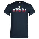 Navy T Shirt-Texas A&M-Texarkana Two-Tone