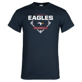 Navy T Shirt-TAMUT Eagles Baseball Diamond