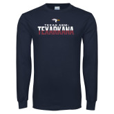Navy Long Sleeve T Shirt-Texas A&M-Texarkana Two-Tone