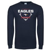 Navy Long Sleeve T Shirt-TAMUT Eagles Baseball Diamond