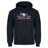 Navy Fleece Hoodie-Eagle Head w/ Eagles