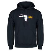 Navy Fleece Hoodie-Eagle Head