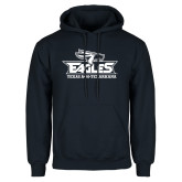 Navy Fleece Hoodie-Eagle Head w/ Eagles Stacked