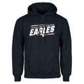 Navy Fleece Hoodie-Slanted Texas A&M-Texarkana Eagles