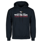 Navy Fleece Hoodie-Texas A&M-Texarkana Two-Tone