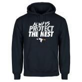 Navy Fleece Hoodie-Always Protect The Nest