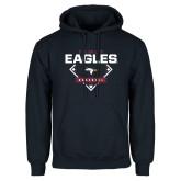 Navy Fleece Hoodie-TAMUT Eagles Baseball Diamond