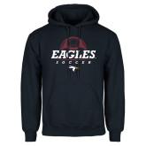 Navy Fleece Hoodie-Eagles Soccer Half Ball