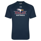Under Armour Navy Tech Tee-Softball