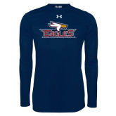 Under Armour Navy Long Sleeve Tech Tee-Eagle Head w/ Eagles
