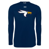 Under Armour Navy Long Sleeve Tech Tee-Eagle Head