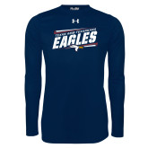Under Armour Navy Long Sleeve Tech Tee-Slanted Texas A&M-Texarkana Eagles