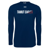 Under Armour Navy Long Sleeve Tech Tee-TAMUT Eagles Two-Tone