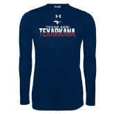 Under Armour Navy Long Sleeve Tech Tee-Texas A&M-Texarkana Two-Tone