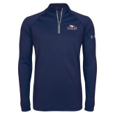Under Armour Navy Tech 1/4 Zip Performance Shirt-Eagle Head w/ Eagles