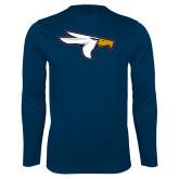 Syntrel Performance Navy Longsleeve Shirt-Eagle Head